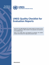 UNEG Quality Checklist for Evaluation Reports