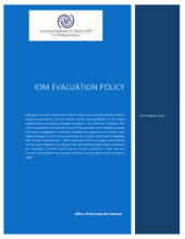 IOM Guidance for Addressing Gender in Evaluations